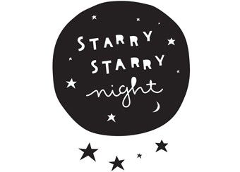 sticker mural Starry night a Little Lovely Company | shop pour enfants Le Petit Zèbre