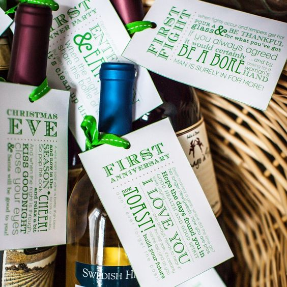 Wine Bottle Wedding Gift Poems : Bottle of wine, Fun gifts and Gift baskets on Pinterest