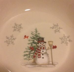 We Can Build A Snowman Collection Bowls Set 4 Christmas Holiday Dishes