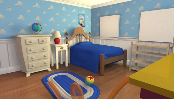 If I ever have a son, his room will look like Andy's on Toy Story!  Living the dream! :)