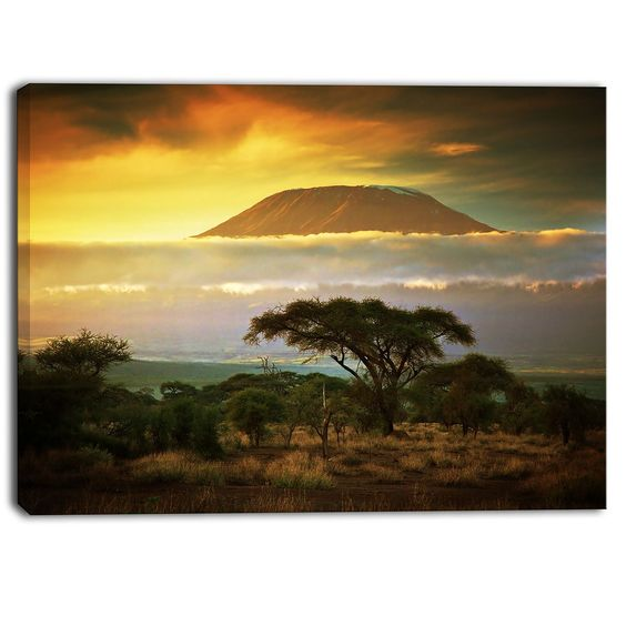 Mount Kilimanjaro Landscape Photographic Print on Wrapped Canvas
