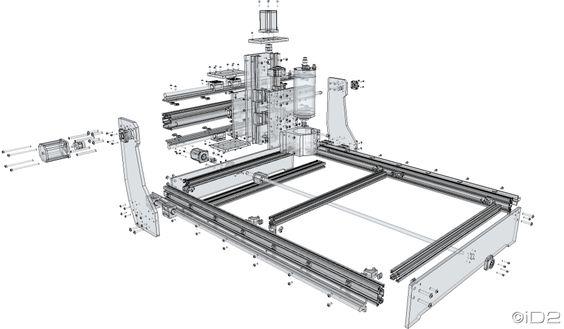 [iD2CNC-SS v.1.0] Aluminum CNC design and build