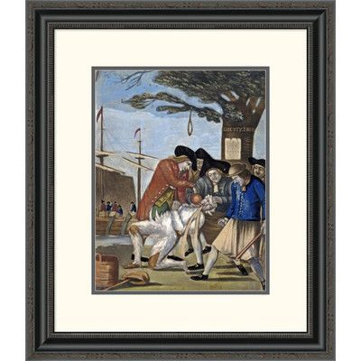 Global Gallery 'Tarring and Feathering' by Philip Dawe Framed Painting Print Size: