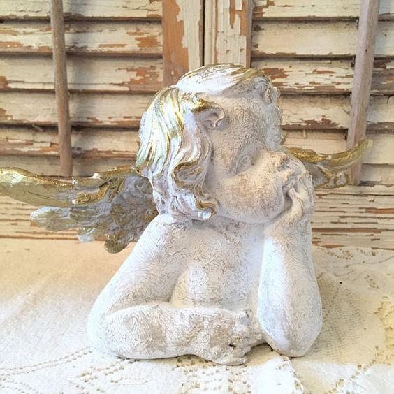 Cherub Statue Angel Figurine Remembrance Gift Nursery Decor