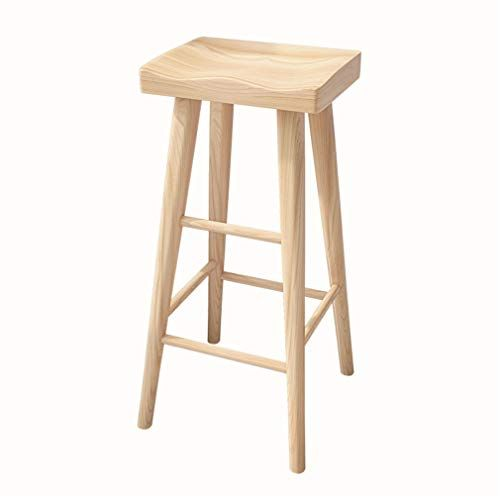 Wooden Barstools Pub Counter Bar Stool Dining Chair Sunken Seat