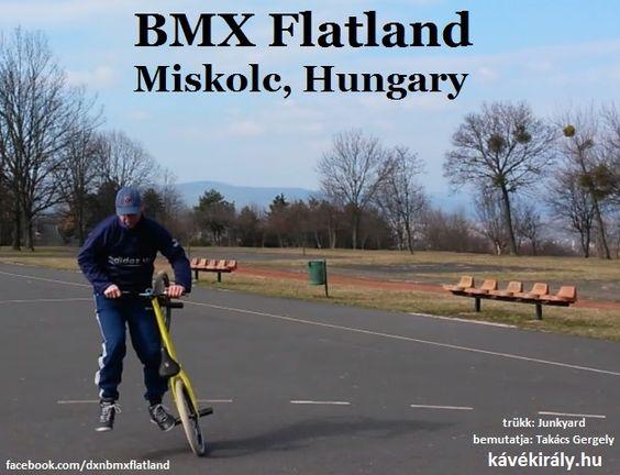 Takács Gergely (DXN, kávékirály.hu) BMX Flatland kerékpáros trükkje, Miskolc, Avas, Magyarország.