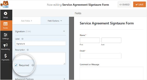 Signature Form wordpress