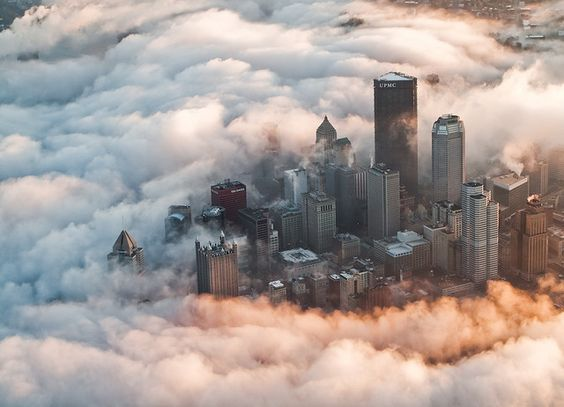Pittsburgh in the fog. awesome!
