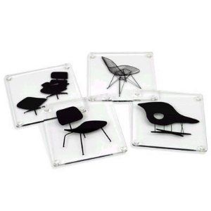 Museum of Modern Art Eames Acrylic Chairs Coasters  by MoMA