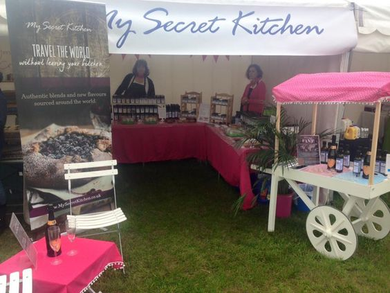 Here's our  My Secret Kitchen Pop up show at the Norfolk Polo Festival selling dip mixes, unique Balsamic Vinegars, flavoured EVOOs spice blends, meat rubs & delicious chocolate powders, the Chai & Pavlova powders were really popular