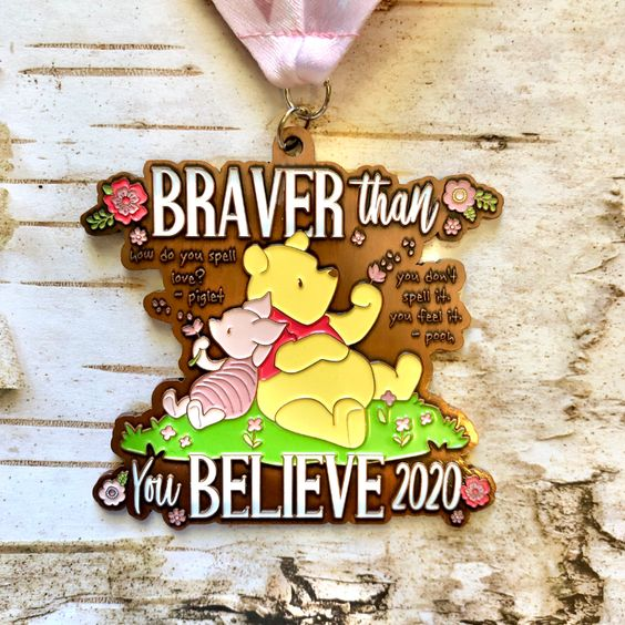 2020 Virtual Races Braver Than You Believe In 2020 Virtual Run Virtual Race Virtual Races Medals