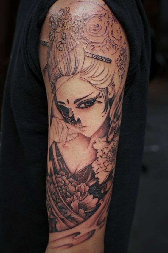Chronic ink tattoo toronto tattoo skull geisha tattoo in for Fake tattoo sleeves toronto
