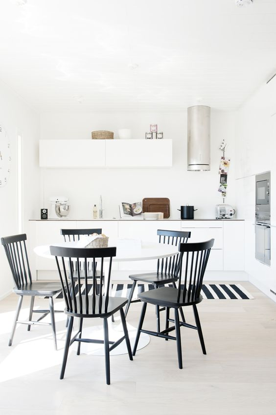 i like this sort of windsor chair style  HOUSING FAIR FINLAND 2012: KITCHEN SNEAK PEEK | Scandinavian Deko.: