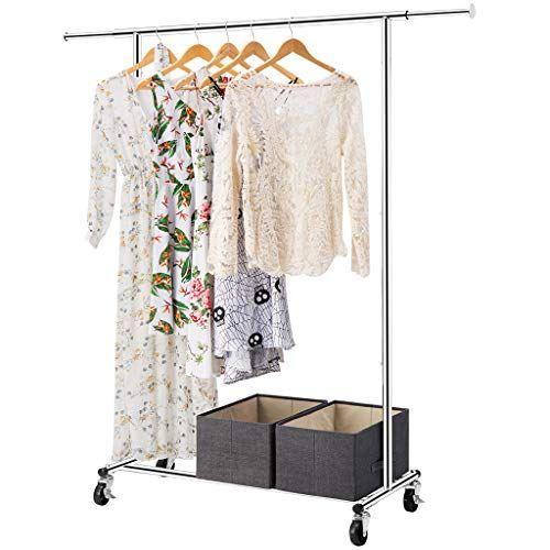 Langria Heavy Duty Garment Rack Commercial Grade Adjustab