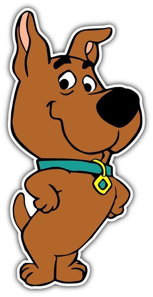 Scooby Doo Walking Cartoon Car Bumper Sticker Decal 3/'/' x 5/'/'