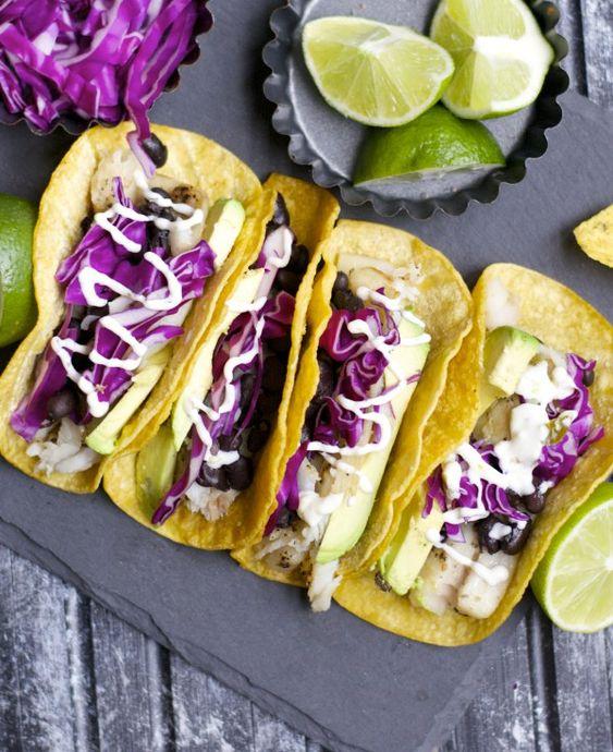 tacos black beans tacos fish avocado beans low carb meals black sauces ...