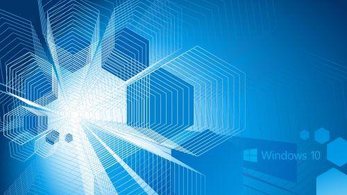 Windows 10 Wallpaper Hd 4k Cool Blue Wallpaper Hexagon