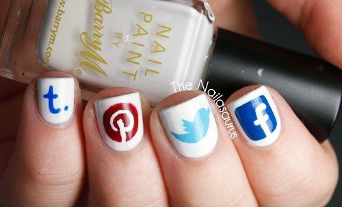 #Uñas #Geek – 46 imágenes para techies – #GeekNails #Nails #twitter #pinterest #facebook #tuenti