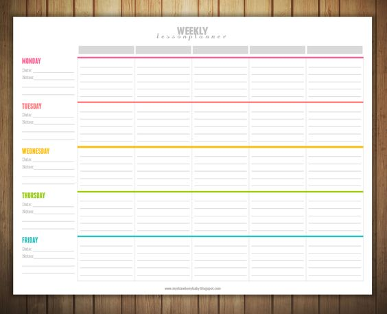 Free Printable Weekly Lesson Plan Template Ms Greene My Own - product comparison template word