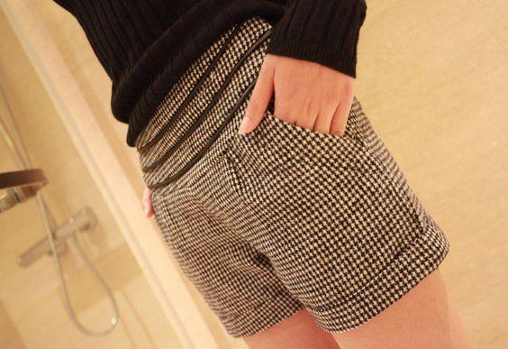 [qz041] กางเกงขาสั้น กางเกงทรงเกาหลี Pre Order | SoMoreMore.Com