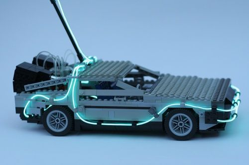 Back To The Future De Lorean A Lego 174 Creation By Fred
