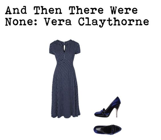 """""""And Then there Were None: Vera Claythorne"""" by gela-eclipse ❤ liked on Polyvore featuring Arfango"""