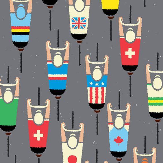 Cycling Art Print, World Road Race Championship Cyclists, Peloton Cycling Poster