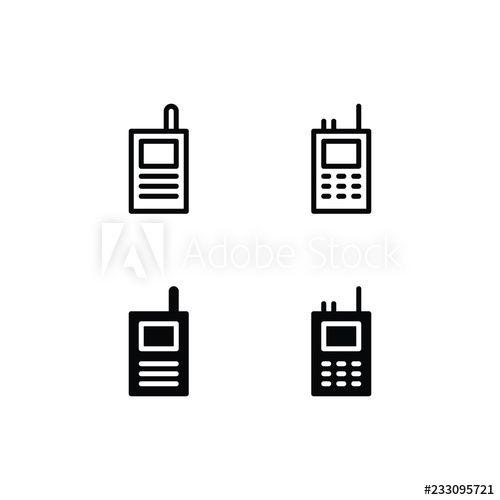 Walkie Talkie Icon Logo Vector Symbol Vector Logo Walkie Talkie Logos