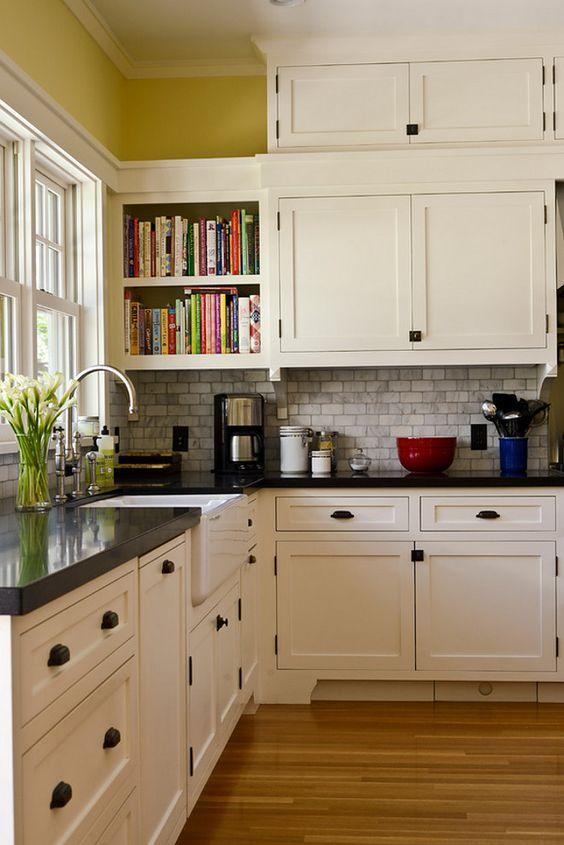 Craftsman Kitchen. White craftsman kitchen. With its emphasis on natural…