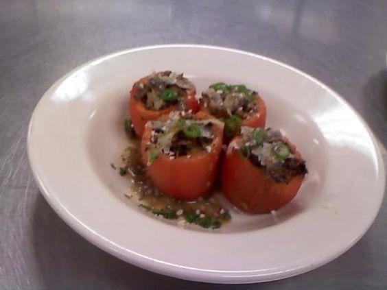 PAELLA-STYLE STUFFED HEIRLOOM TOMATOES: Tomatoes Recipe, Vegan Dishes, Heirloom Tomatoes, Stuffed Heirloom