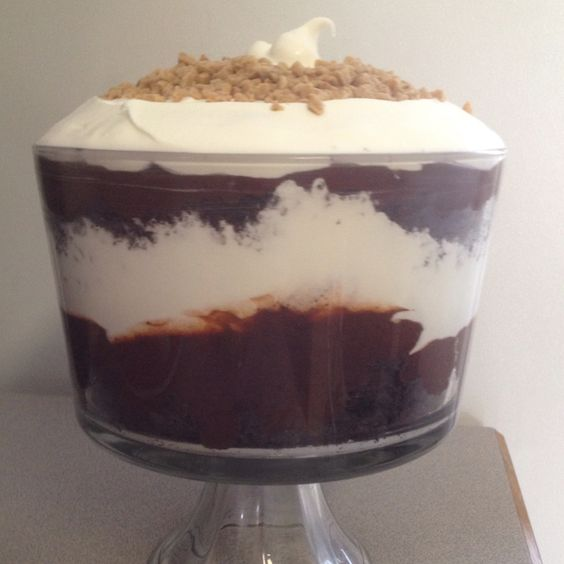 Chocolate Cake And Pudding Layered Dessert