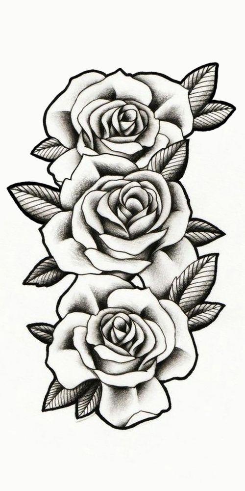 Schattierte Rosen Tattoo Rosas Sombreadas Tattoo Motive Motive Rosas Rosen Schatti Tatuajes De Rosas Plantillas De Tatuajes Como Dibujar Rosas