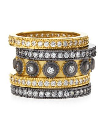Five-Stack CZ Circle Rings by Belargo at Last Call by Neiman Marcus.