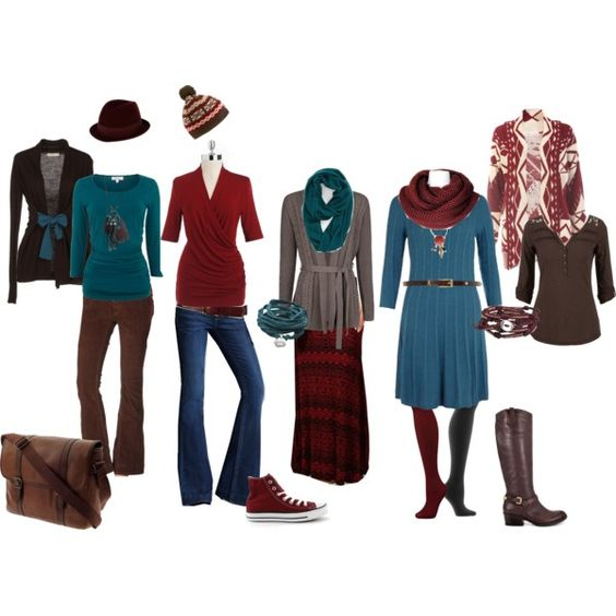 Example of cute capsule wardrobe (by Polyvore)