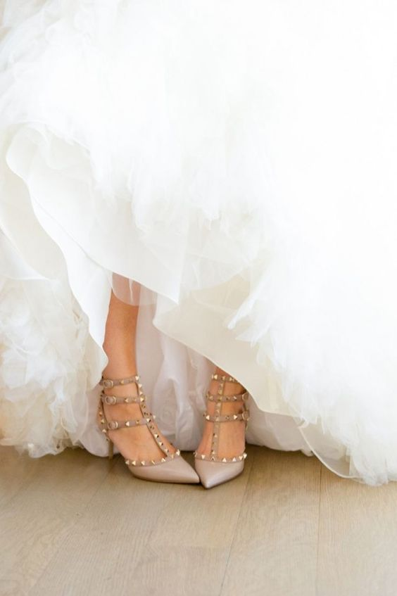 wedding dress with valentino rockstud - Google Search