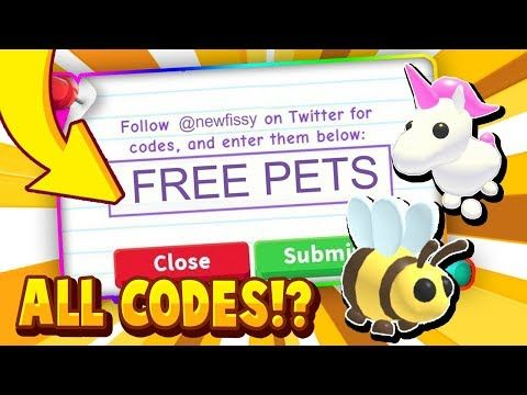 All Adopt Me Codes December 2019 In Roblox Trying Roblox Adopt Me Promo Codes Youtube In 2020 Coding Roblox All Codes