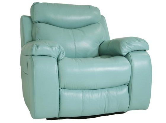 Aqua Furniture Delaney Aqua Swivel Glider Recliner Sku