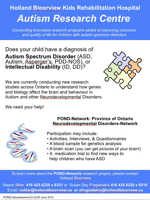 Holland Bloorview Kids Rehabilitation Hospital Autism Research - research agenda sample