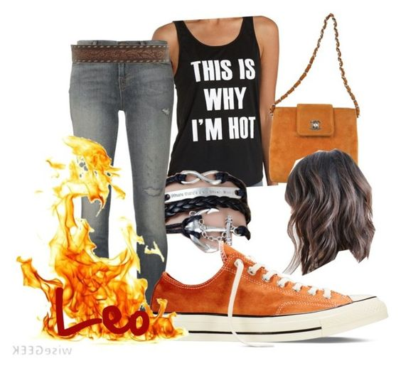 """""""the HOT Leo Valdez """" by wont-you-believe ❤ liked on Polyvore featuring Charlotte Russe, Chanel, J Brand, Converse and Ariat"""
