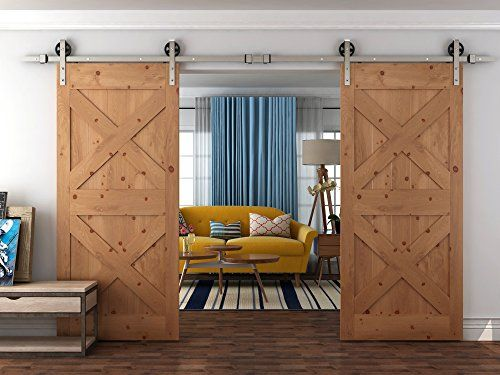 Diyhd 10ft Big Industrial Spoke Wheel Brushed Nickel Stee With Images Barn Style Interior Doors Double Sliding Barn Doors Barn Door