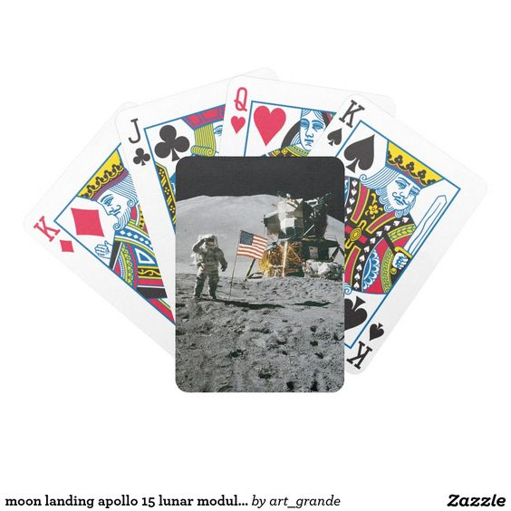 moon landing apollo 15 lunar module nasa 1971 bicycle playing cards
