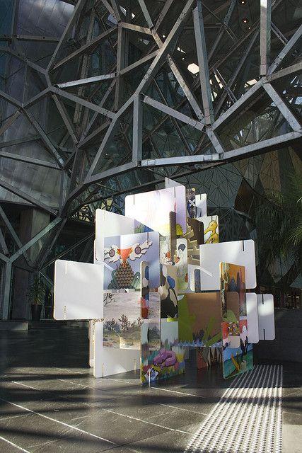 Xanita Exhibition Stand : X board interlocking display by xanita via flickr