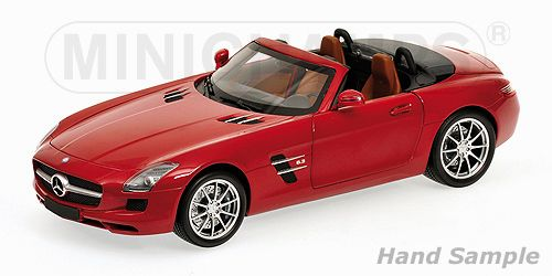 2011 Mercedes-Benz SLS-Class AMG Roadster - Red Metallic  by Minichamps (1:18 scale)
