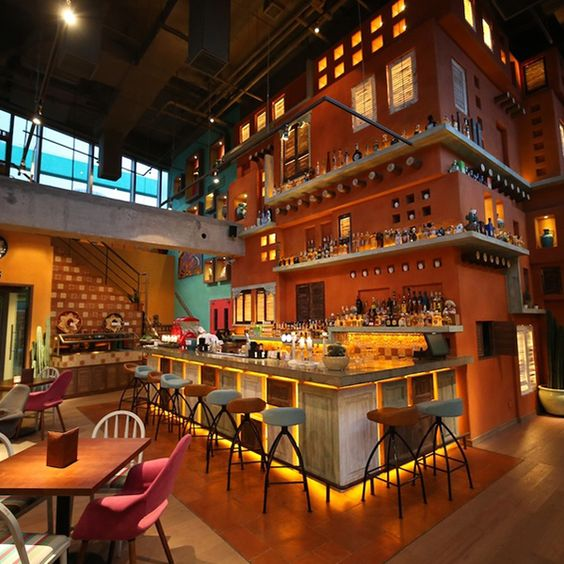 Cantina agave mexican restaurant shanghai beijing by for Food bar cantina rijeka