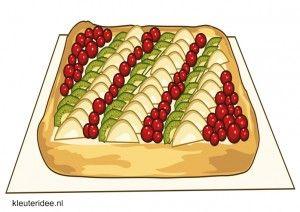 Taarten om te decoreren met scheerschuim, kleuteridee.nl, thema bakker voor kleuters / decorate cakes with shaving cream