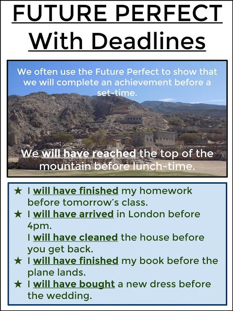 FUTURE PERFECT With Deadlines