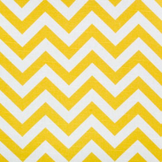 Premier Prints Fabric Zig Zag Chevron in Corn Yellow and White Slub - 1 yard. $13.75, via Etsy.