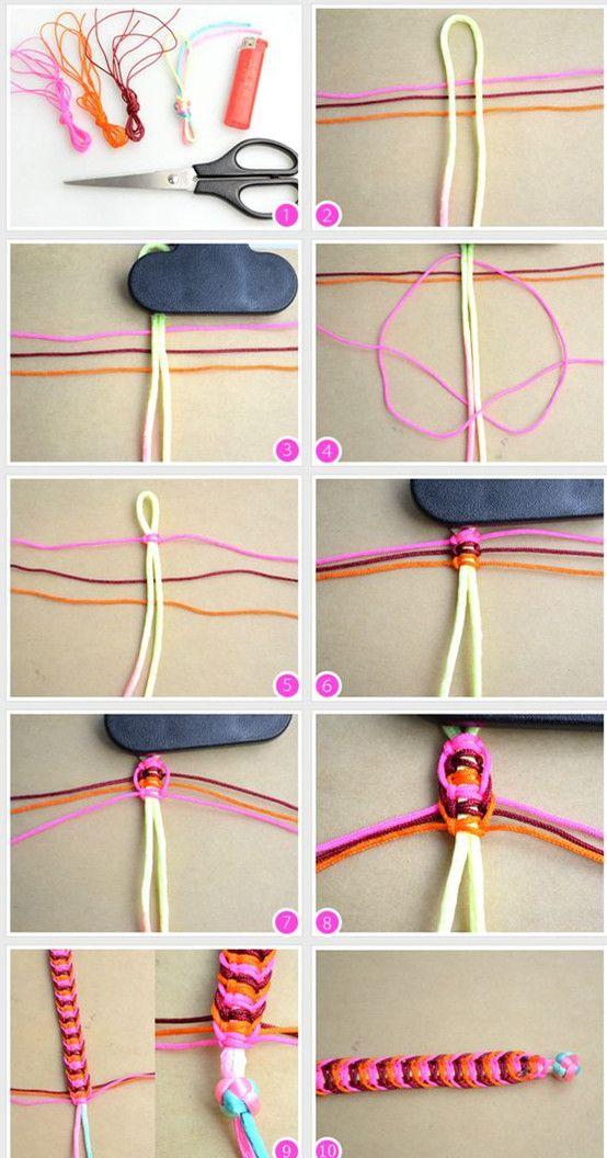 Tutorials On Making Colorful Thread Braided Bracelet Diy Friendship Bracelets Patterns Diy Bracelets Easy Diy Bracelets Tutorials