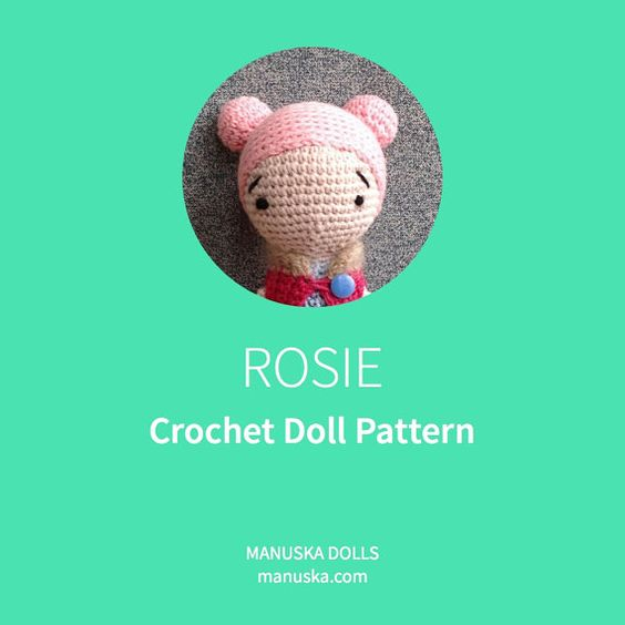 Crochet Doll Pattern PDF file Pattern Crochet Pattern by Manuska