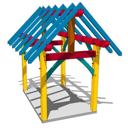 8x12 Timber Frame Plan In 2020 Timber Frame Plans Shed Plans